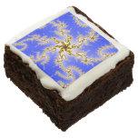 Remolino de oro en azul - diseño del fractal