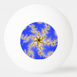 Remolino de oro en azul - diseño del fractal pelota de tenis de mesa