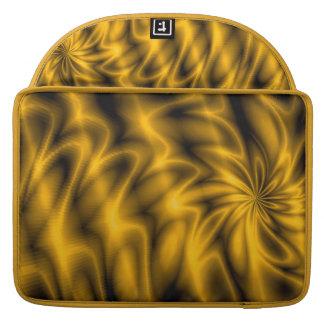 Remolino de oro fundas macbook pro