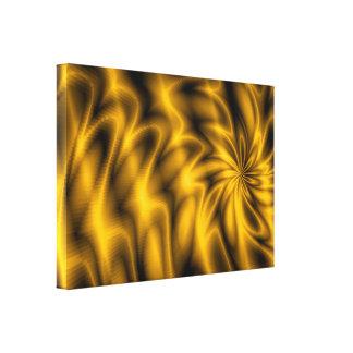 Remolino de oro impresión en lona