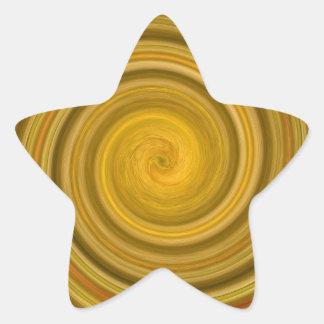 Remolino de oro pegatina en forma de estrella