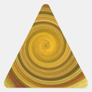 Remolino de oro pegatina triangular