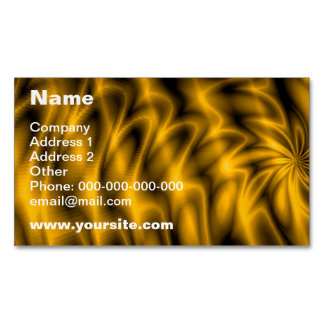 Remolino de oro tarjetas de visita magnéticas (paquete de 25)