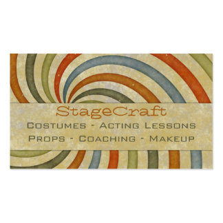 Remolino de papel retro tarjetas de visita