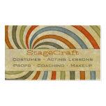 Remolino de papel retro tarjetas personales