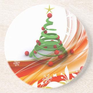 Remolino del árbol de navidad posavasos diseño