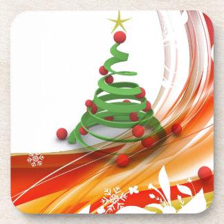 Remolino del árbol de navidad posavasos
