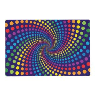 Remolino del arco iris tapete individual