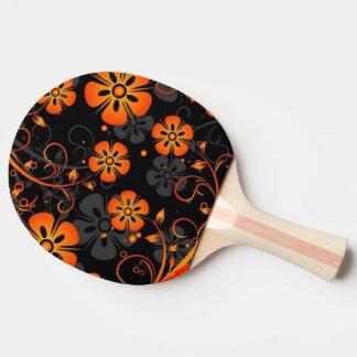 remolino del arte del vector de las flores del nar pala de tenis de mesa