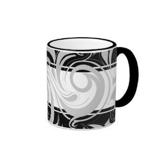 Remolino del blanco gris del negro de la taza de