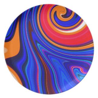 """""""Remolino del caramelo"""" (diseño de AOM) Platos Para Fiestas"""