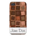 Remolino del chocolate iPhone 4 cárcasas