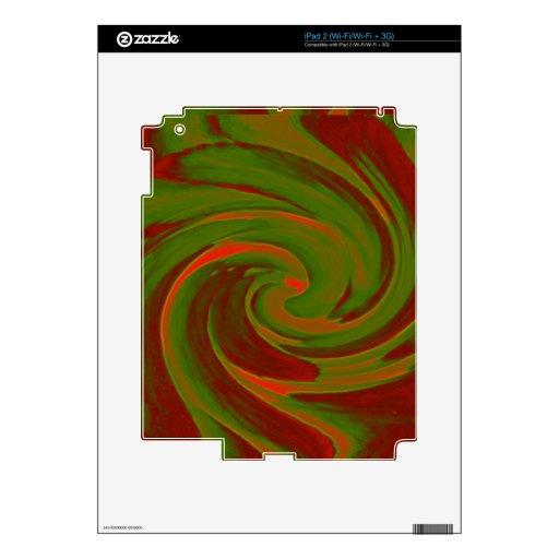 Remolino del color iPad 2 calcomanía
