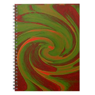 Remolino del color libretas espirales