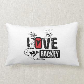 Remolino del hockey del amor cojin