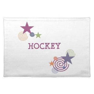 Remolino del hockey manteles individuales