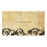 Remolino del negro del damasco del vintage que cas tarjeta de visita