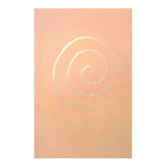 Remolino del oro en arte moderno espiral de oro an  papeleria de diseño