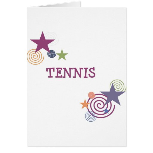 Remolino del tenis tarjeta