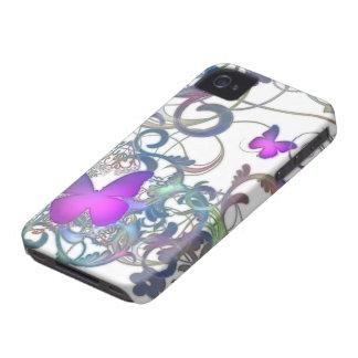 Remolino elegante de la mariposa Case-Mate iPhone 4 funda