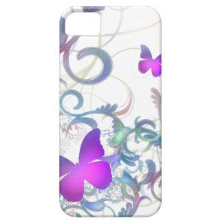 Remolino elegante de la mariposa iPhone 5 funda