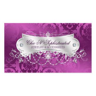 Remolino elegante del damasco del ciruelo plantillas de tarjeta de negocio
