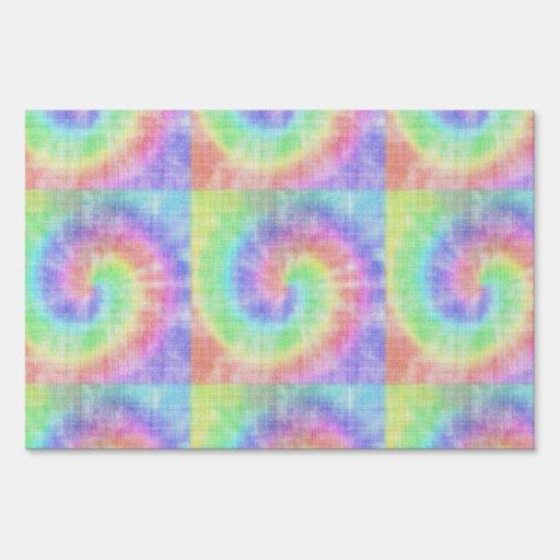 Remolino en colores pastel del modelo del teñido carteles