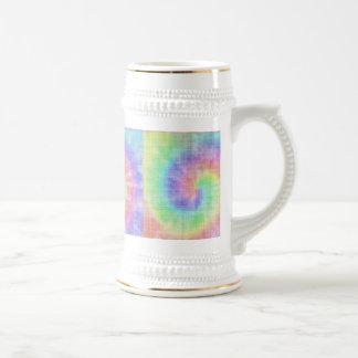 Remolino en colores pastel del modelo del teñido jarra de cerveza