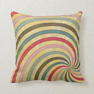 Remolino espiral retro maravilloso del rayo del ra almohadas