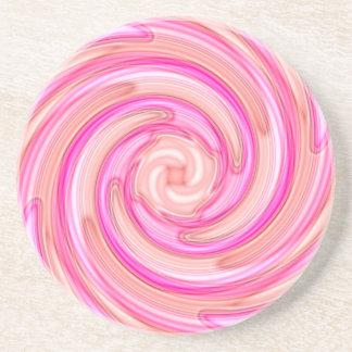 Remolino femenino de los tonos rosados bonitos posavasos personalizados