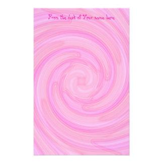 Remolino femenino rosado bonito papeleria
