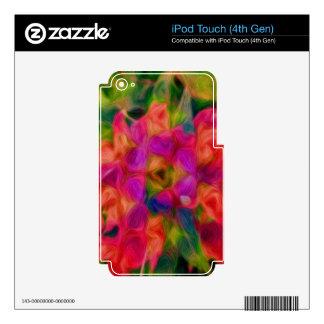 Remolino floral abstracto iPod touch 4G calcomanía