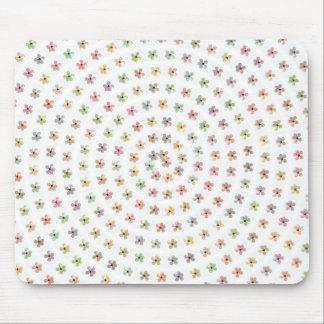 Remolino floral Mousepad del hibisco Alfombrilla De Ratón