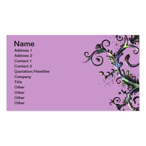Remolino floral tarjetas de visita
