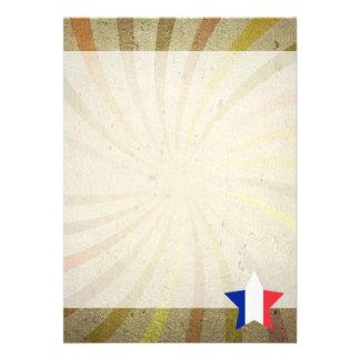 """Remolino francés de la bandera del vintage invitación 5"""" x 7"""""""
