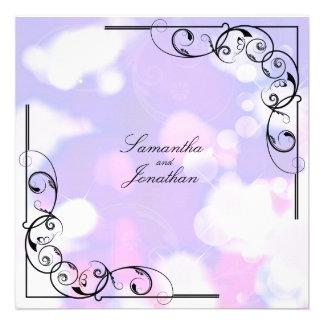 Remolino frondoso floral púrpura del rosa de la in