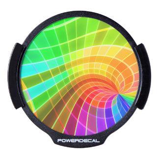 Remolino geométrico del arco iris pegatina LED para ventana