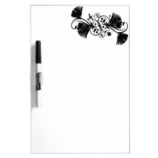 REMOLINO GRAP del CHINO Chinese_swirl_floral_desig Pizarra Blanca