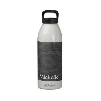 Remolino gris de la flor botella de beber