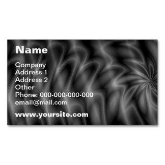 Remolino gris tarjetas de visita magnéticas (paquete de 25)