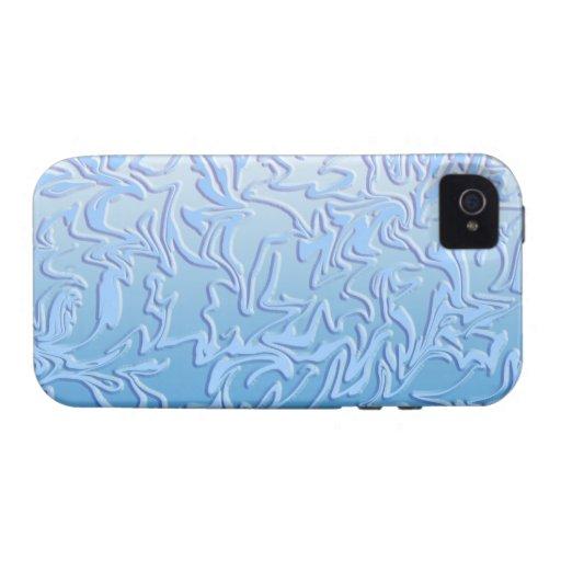 Remolino helado abstracto vibe iPhone 4 carcasas