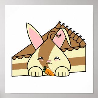 Remolino Hopdrop y torta Impresiones