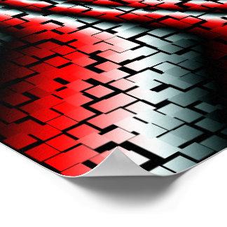 Remolino impresionante de los cubos tridimensional póster