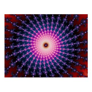 Remolino inyectado en sangre del fractal tarjeta postal