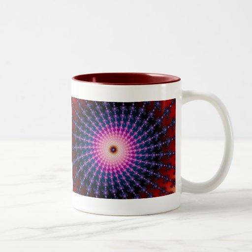 Remolino inyectado en sangre del fractal taza de café