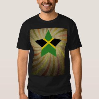 Remolino jamaicano de la bandera del vintage camisas