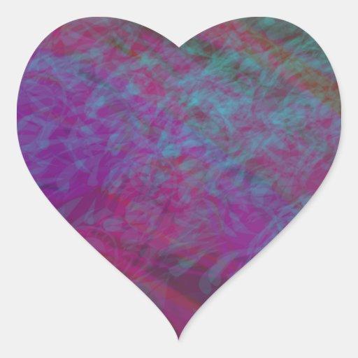 Remolino magenta pegatina en forma de corazón