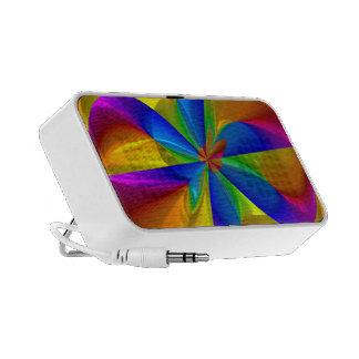 Remolino metálico abstracto del color del arco iri mini altavoz