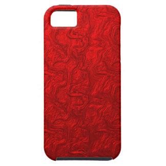 Remolino metálico rojo iPhone 5 Case-Mate cobertura