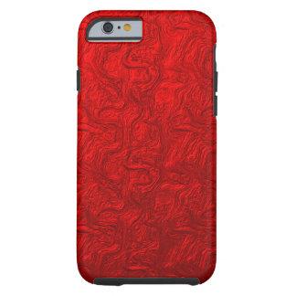 Remolino metálico rojo funda de iPhone 6 tough